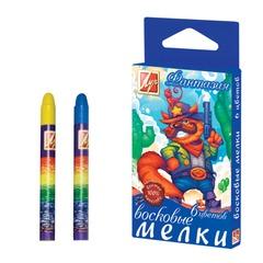 Восковые мелки ЛУЧ «Фантазия», 6 цветов, на масляной основе, картонная упаковка с европодвесом