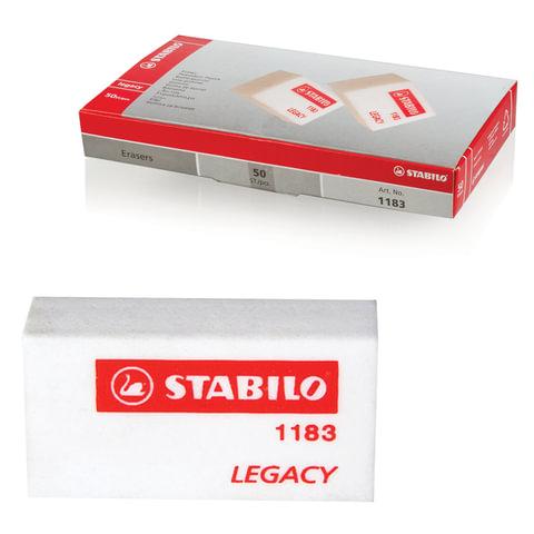 Резинка стирательная STABILO, прямоугольная, 35×18×11 мм, белая