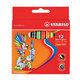 Восковые мелки STABILO «Yippy», 12 цветов, яркие цвета, картонная упаковка c европодвесом