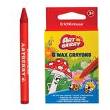 Восковые карандаши ERICH KRAUSE «Artberry», 8 цветов, картонная упаковка с европодвесом