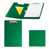 Папка-планшет ОФИСМАГ с верхним прижимом и крышкой, А4, картон/<wbr/>ПВХ, Россия, зеленая, двойной срок службы