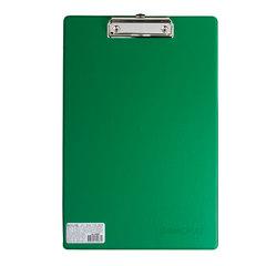 Доска-планшет ОФИСМАГ с верхним прижимом, А4, 23×35 см, картон/<wbr/>ПВХ, Россия, зеленая