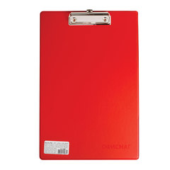 Доска-планшет ОФИСМАГ с верхним прижимом, А4, 23×35 см, картон/<wbr/>ПВХ, Россия, красная