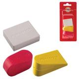 Резинки стирательные KOH-I-NOOR, набор 3 шт., цвет и форма ассорти, блистер
