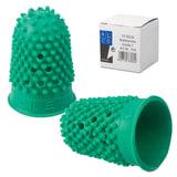 Напальчник для бумаги, диаметр 16 мм, высота 27 мм, ALCO (Германия) 764, зеленый, резиновый