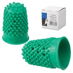 Напальчник для бумаги, диаметр 17 мм, высота 28 мм, ALCO (Германия) 765, зеленый, резиновый