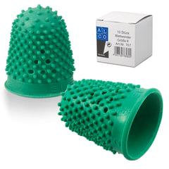 Напальчник для бумаги, диаметр 20 мм, высота 32 мм, ALCO (Германия) 767, зеленый, резиновый