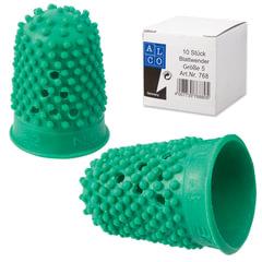 Напальчник для бумаги, диаметр 22 мм, высота 33 мм, ALCO (Германия) 768, зеленый, резиновый
