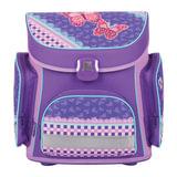 Ранец жесткокаркасный TIGER FAMILY (ТАЙГЕР), 17 литров, для учениц начальной школы, фиолетовый, «Кружево», 37×34×21 см