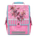 Ранец жесткокаркасный TIGER FAMILY (ТАЙГЕР), 14 литров, для учениц начальной школы, розовый, «Весна», 36×32×19 см