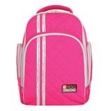 Рюкзак с ортопедической спинкой TIGER FAMILY (ТАЙГЕР) Полосы, розовый, 19 л, 39×31×22 см