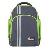 Рюкзак с ортопедической спинкой TIGER FAMILY (ТАЙГЕР) Полосы, серый/<wbr/>зеленый, 19 л, 39×31×22 см