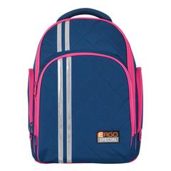 Рюкзак TIGER FAMILY (ТАЙГЕР), 19 л, с ортопедической спинкой, для средней школы, универсальный, синий/<wbr/>малиновый, 39×31×22 см