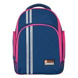 Рюкзак с ортопедической спинкой TIGER FAMILY (ТАЙГЕР) Полосы, синий/<wbr/>малиновый, 19 л, 39×31×22 см