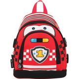 Рюкзак TIGER FAMILY (ТАЙГЕР), 5 литров, для дошкольников, красный, «Мини Машинка», 26×21×13 см