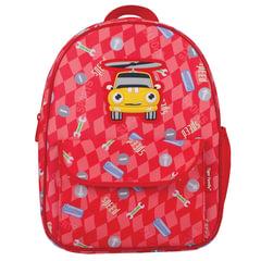 Рюкзак TIGER FAMILY (ТАЙГЕР), 4 литра, для дошкольников, красный, «Машинка», 29×24×10 см