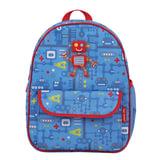 Рюкзак TIGER FAMILY (ТАЙГЕР), 4 литра, для дошкольников, голубой, «Робот», 29×24×10 см