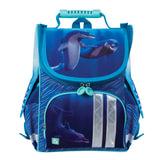 Ранец жесткокаркасный BRAUBERG, для учениц начальной школы, «Дельфин», 17 литров, 34×26×16 см
