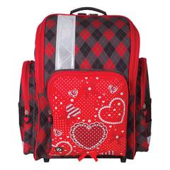 Ранец жесткокаркасный BRAUBERG, для учениц начальной школы, «Сердце», 18 литров, 36×26×14 см