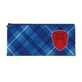 Пенал-косметичка BRAUBERG (БРАУБЕРГ) для учеников начальной школы, синий/<wbr/>голубой, «Оксфорд», 20×10 см