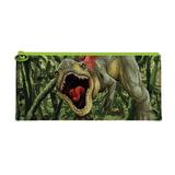 Пенал-косметичка BRAUBERG (БРАУБЕРГ) для учеников начальной школы, зеленый, «Динозавр», 20×10 см