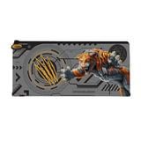 Пенал-косметичка BRAUBERG (БРАУБЕРГ) для учеников начальной школы, серый/<wbr/>оранжевый, «Тигр», 20×10 см