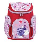 Ранец жесткокаркасный BRAUBERG для учениц начальной школы, «Роза», 14 литров, 38×29×19 см
