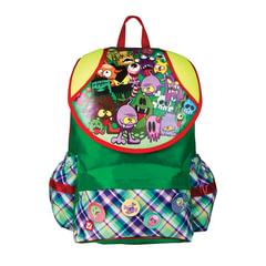 Рюкзак BRAUBERG для учеников, ортопедический, экстралегкий, евроформат, «Ужастики», 15 литров, 38×26×16 см