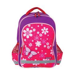 Рюкзак ПИФАГОР для учениц начальной школы, «Бабочки», 15 литров, 38×28×14 см