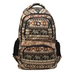 Рюкзак BRAUBERG для старшеклассников/<wbr/>студентов/<wbr/>молодежи, узоры, «Слоны», 27 литров, 47×32×14 см
