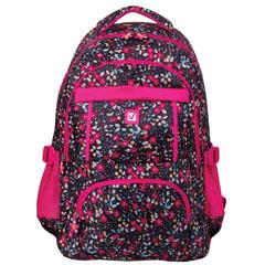 Рюкзак BRAUBERG для старшеклассников/<wbr/>студентов/<wbr/>молодежи, узоры, «Цветы», 26 литров, 45×31×12 см