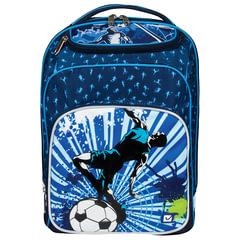 Рюкзак BRAUBERG для учеников начальной школы, эргономичная спинка, «Финт,» 34×25×16 см