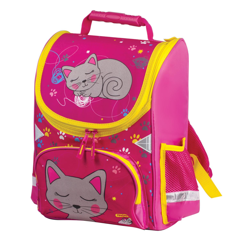8e56958b4747 ... Ранец жесткокаркасный ПИФАГОР, для учениц начальной школы,  «Кошка», 15 литров ...