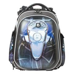 Ранец жесткокаркасный BRAUBERG, для учеников средней школы, 2 отделения, «Мото», 13 литров, 38×28×12 см