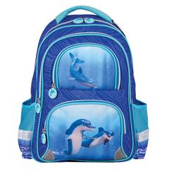 Рюкзак BRAUBERG, с EVA спинкой, для учениц начальной школы, «Дельфин», 12 литров, 38×30×14 см