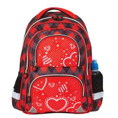 Рюкзак BRAUBERG, с EVA спинкой, для учениц начальной школы, «Сердце», 12 литров, 38×30×14 см