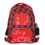 Рюкзак BRAUBERG (БРАУБЕРГ), с EVA спинкой, для учениц начальной школы, «Сердце», 12 литров, 38×30×14 см