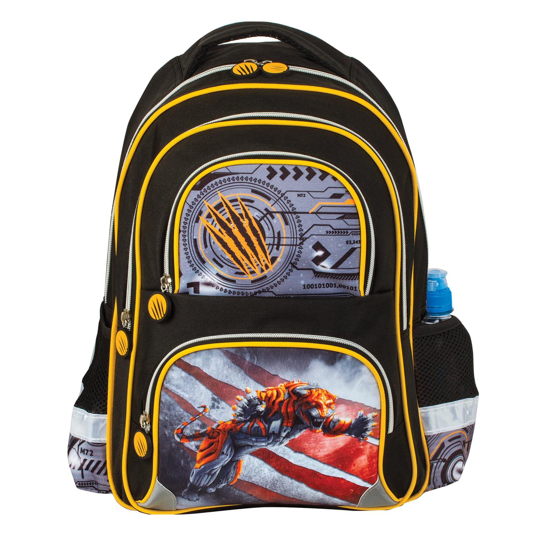 b4beb6ef90e0 Рюкзак BRAUBERG, с EVA спинкой, для учеников начальной школы,  «Тигр» ...