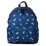 Рюкзак BRAUBERG универсальный, сити-формат, синий, «Птицы», 23 литра, 43×34×15 см