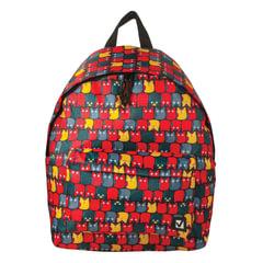 Рюкзак BRAUBERG универсальный, сити-формат, красный, «Совята», 20 литров, 41×32×14 см