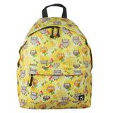 Рюкзак BRAUBERG универсальный, сити-формат, желтый, «Совушки в цветах», 20 литров, 41×32×14 см