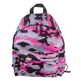 Рюкзак BRAUBERG (БРАУБЕРГ) универсальный, сити-формат, розовый, «Камуфляж», 20 литров, 41×32×14 см