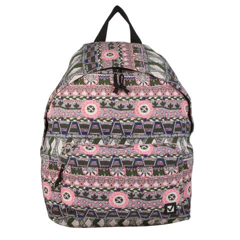 """Рюкзак BRAUBERG универсальный, сити-формат, коричневый коттон, """"Этно"""", 20 литров, 41х32х14 см"""