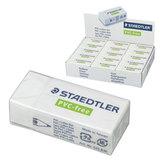 Резинка стирательная STAEDTLER (Штедлер, Германия), 43×19×13 мм, картонный держатель, белая