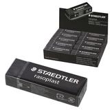Резинка стирательная STAEDTLER (Штедлер, Германия) «RASOPLAST», 65×23×13 мм, с держателем, черная