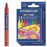 Восковые мелки STAEDTLER (Германия) «Noris Club», 24 цвета, картонная упаковка, европодвес
