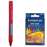 Восковые мелки STAEDTLER (Германия) «Noris Club», 8 цветов, картонная упаковка, европодвес