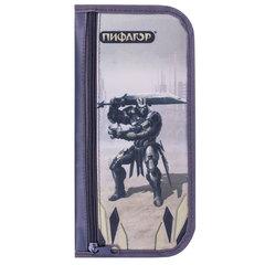 Пенал-косметичка ПИФАГОР для учеников начальной школы, «Железный воин», 23×12 см