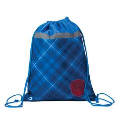 Сумка для обуви BRAUBERG для учеников начальной школы, плотная, «Оксфорд», синяя, 45×35 см