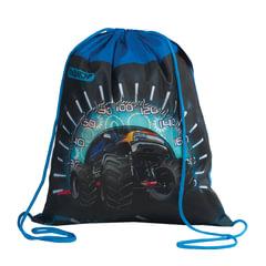 Сумка для обуви ПИФАГОР для учеников начальной школы, «Джип», сине-черная, 42×34 см